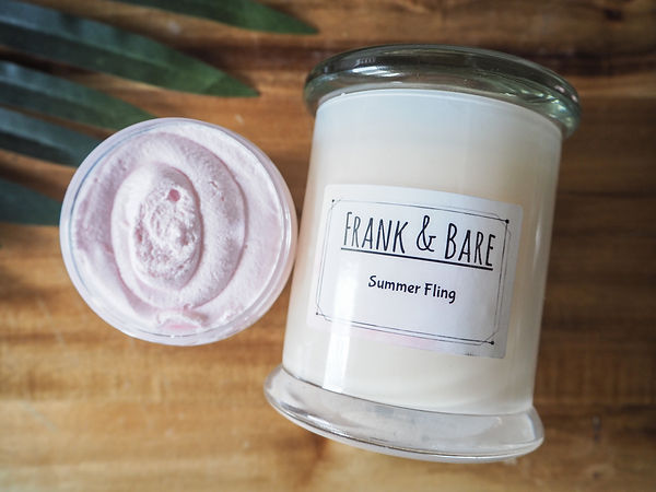Frank and Bare candle and whipped soap