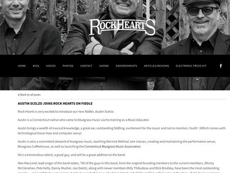 "Austin Scelzo Joins a Powerhouse  Bluegrass Band ""Rock Hearts"""