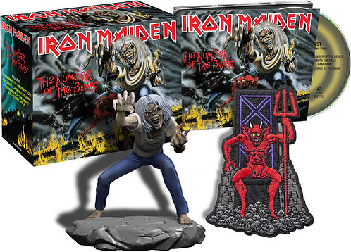 IRON MAIDEN - Number Of The Beast - (Box: CD + Figura)