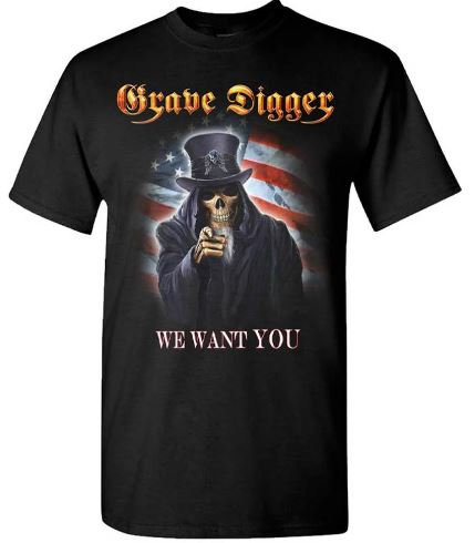 GRAVE DIGGER - UNCLE SAM 2016 DATES (Camiseta)