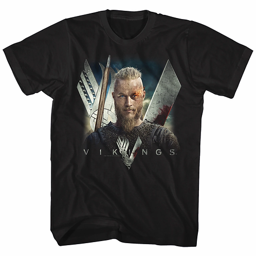 VIKINGS - FLAME MENS LIGHTWEIGHT TEE (Camiseta)