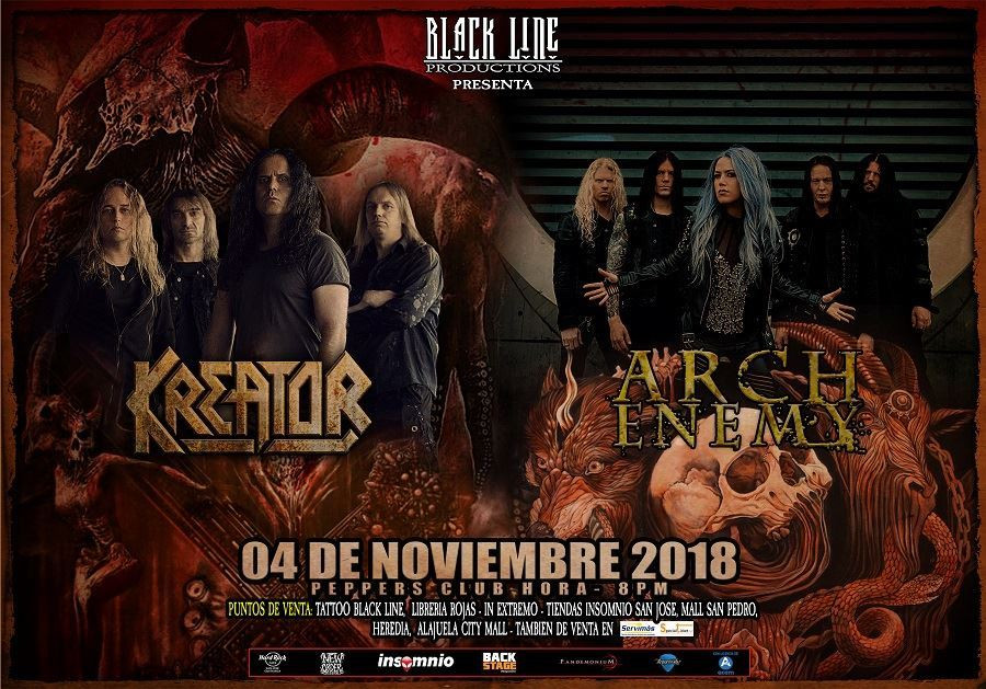 Kreator + Arch Enemy en Costa Rica