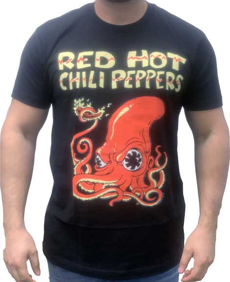 RED HOT CHILLI PEPPERS - FIRE SQUID MENS T-SHIRT ( Camiseta)