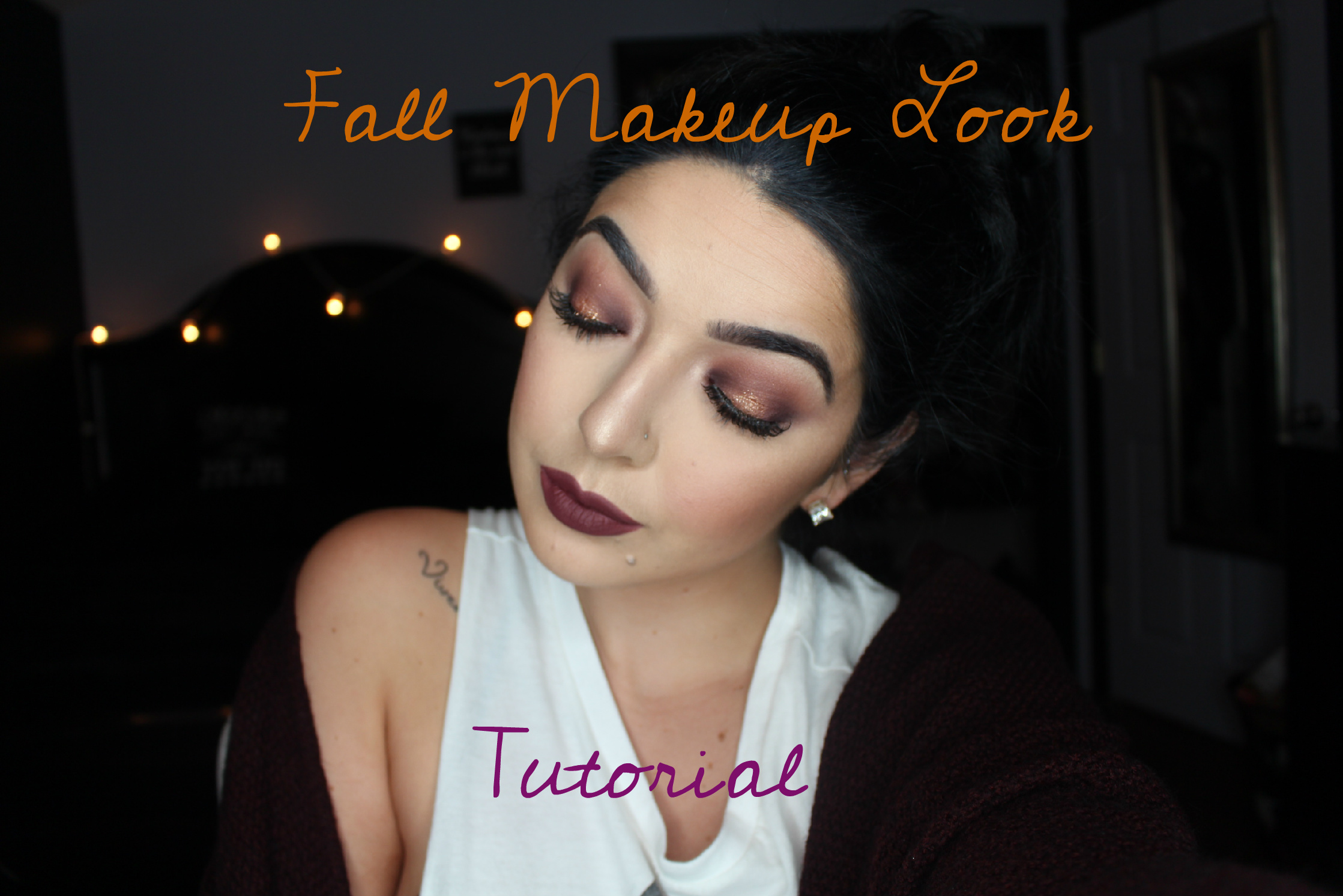 Fall makeup look tutorial