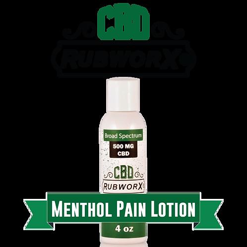 CBD RUBWORX: Menthol Pain Lotion - 500mg
