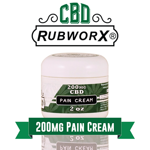 CBD RUBWORX: Pain Cream - 200mg