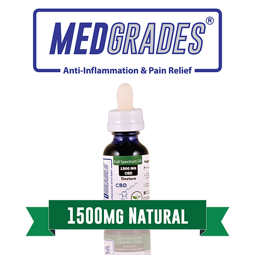 MEDGRADES: Tincture - 1500mg CBD (Natural)