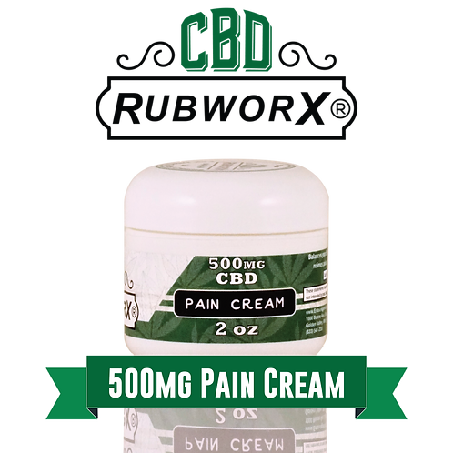 CBD RUBWORX: Pain Cream - 500mg