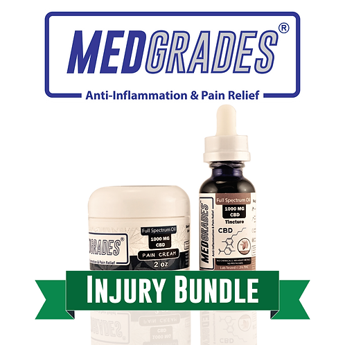 MEDGRADES: Injury Bundle (1000mg Pain Cream & 1000mg Chocolate Tincture