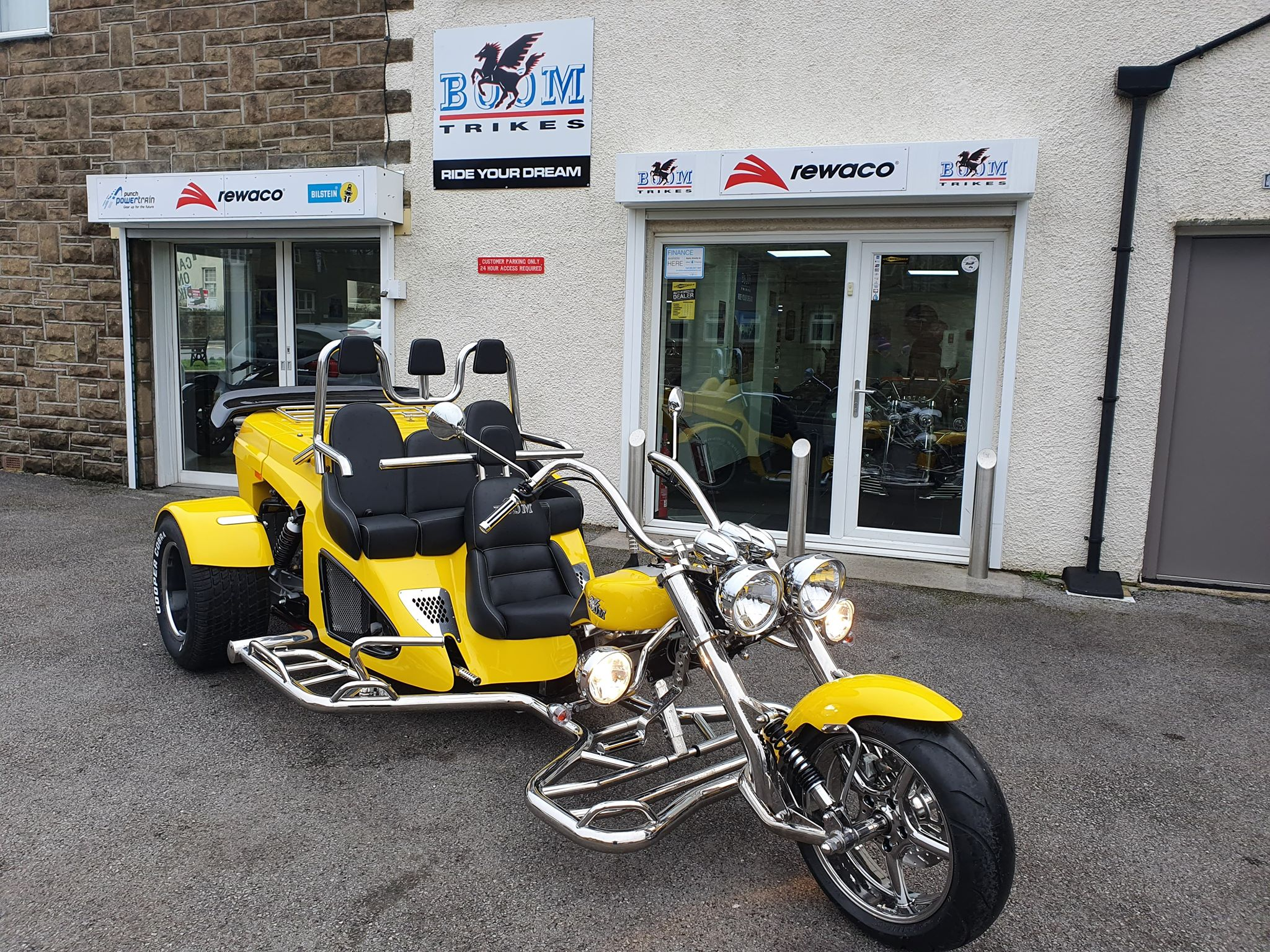 Bumblebee, our yellow Boom Trike