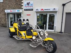 Bumblebee, our yellow Boom Trike