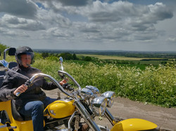 Bumblebee our trike out in the Chilterns