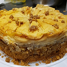 Baklava cheesecake whole