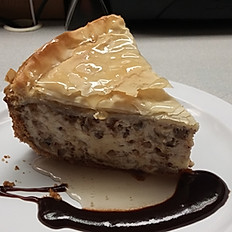 Baklava cheesecake slice