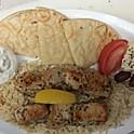 Chicken kabob platter w/pita