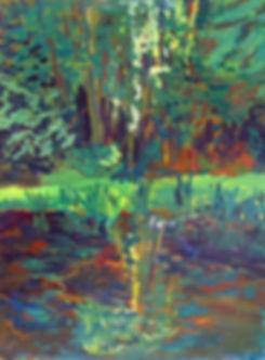Sportsmans Club Pond | Oil Painting | Nan Leiter | Artist, Painter