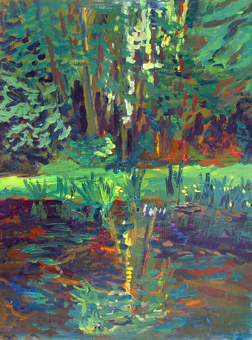 Sportsmans Club Pond | Oil Painting | Nan Leiter | Artist, Painter