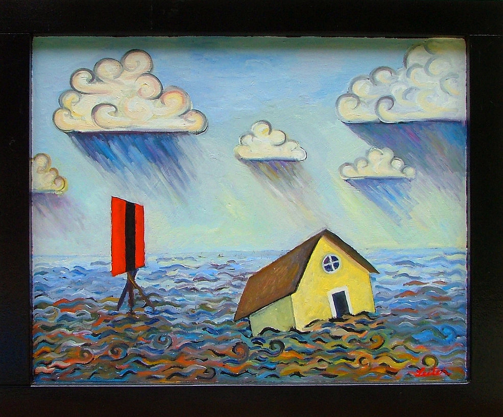 Yellow Haus   Oil Painting   Nan Leiter   Artist, Painter