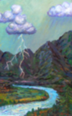 Goat Rocks Electric Storm | Oil Painting | Nan Leiter | Artist, Painter