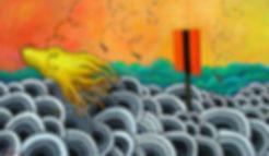 Samaras Descending | Oil Painting | Nan Leiter | Artist, Painter