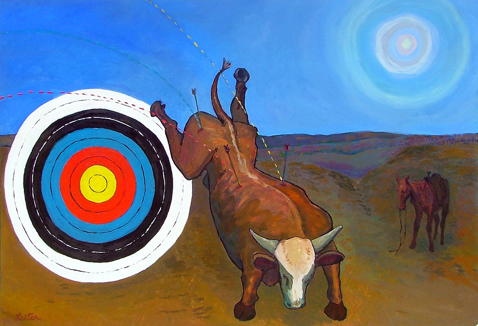 Angry Bull Cow | Oil Painting | Nan Leiter | Artist, Painter