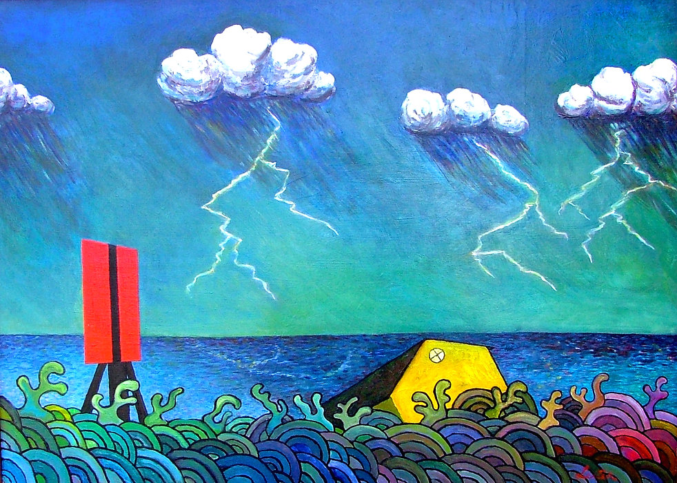 Lightning Strike | Oil Painting | Nan Leiter | Artist, Painter