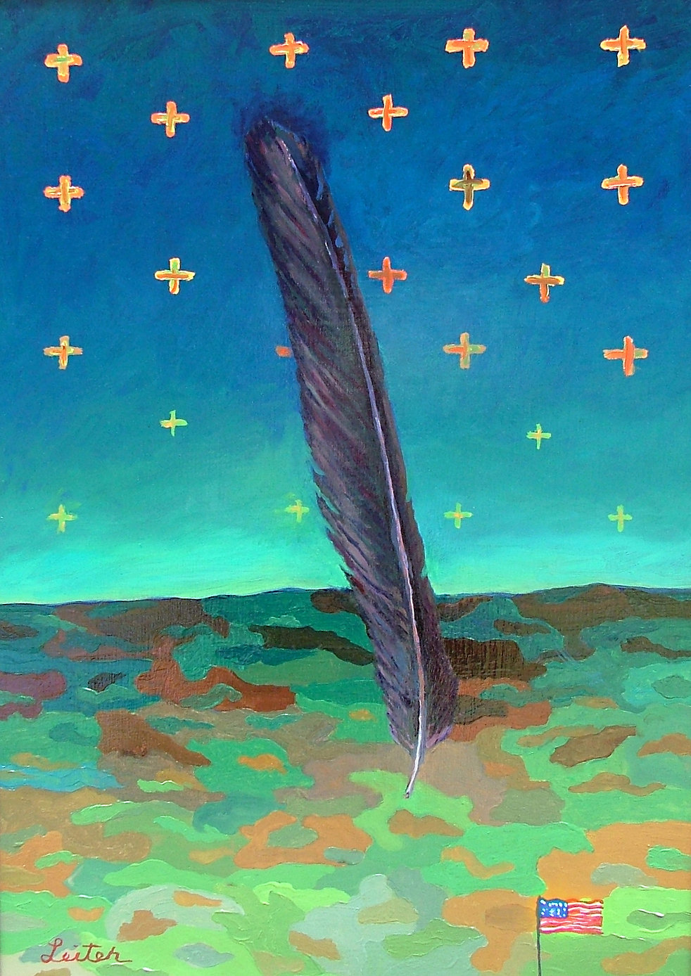 Diné Constellation | Oil Painting | Nan Leiter | Artist, Painter
