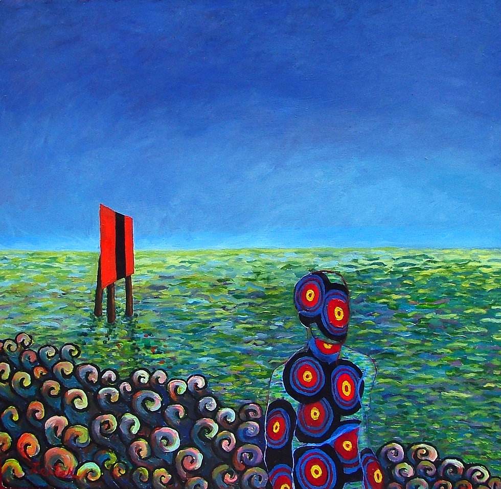 Channel Guide Walking Target | Oil Painting | Nan Leiter | Artist, Painter