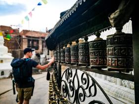 Gebetsmühlen Monkey Tempel