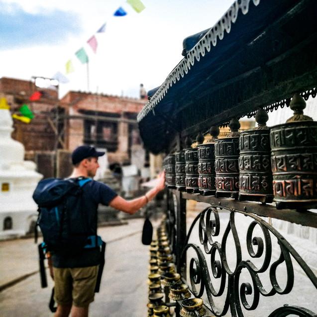 Gebets-mühlen Monkey Tempel