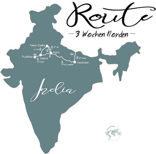 Route Indien, 3 Wochen Indien