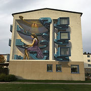 Wild drawing wd street art mural in sala sweden for add more colors
