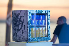 Red Bull canva cooler artwork by Add More Colos Malta