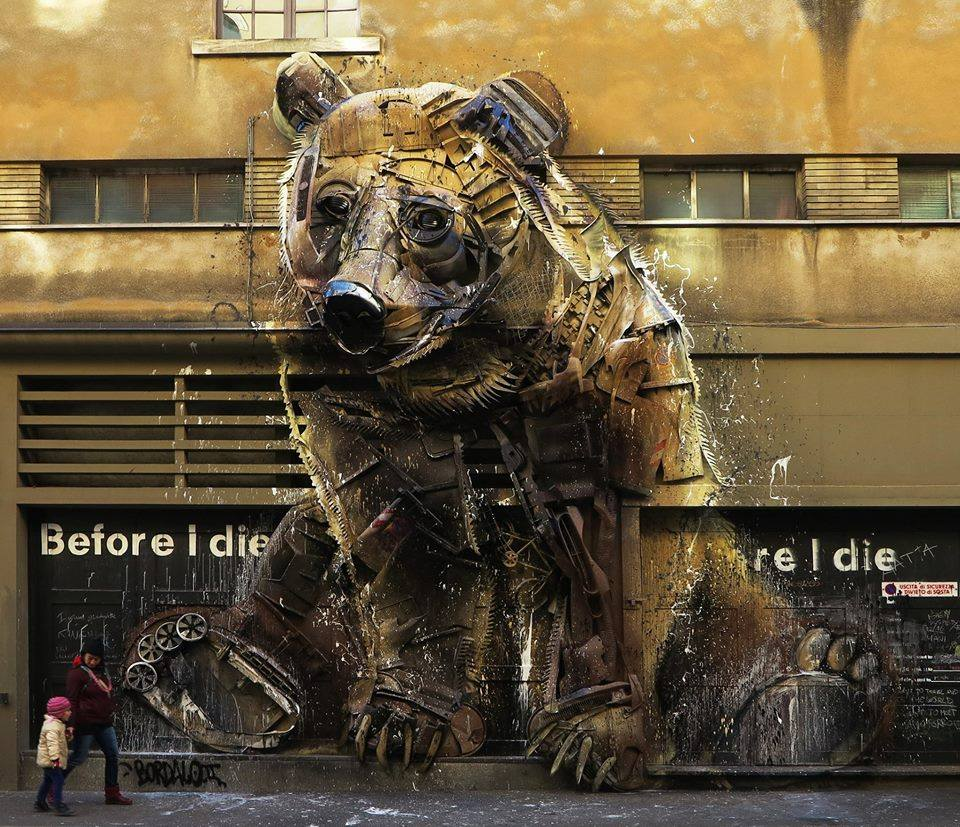 Installation by Bordalo II