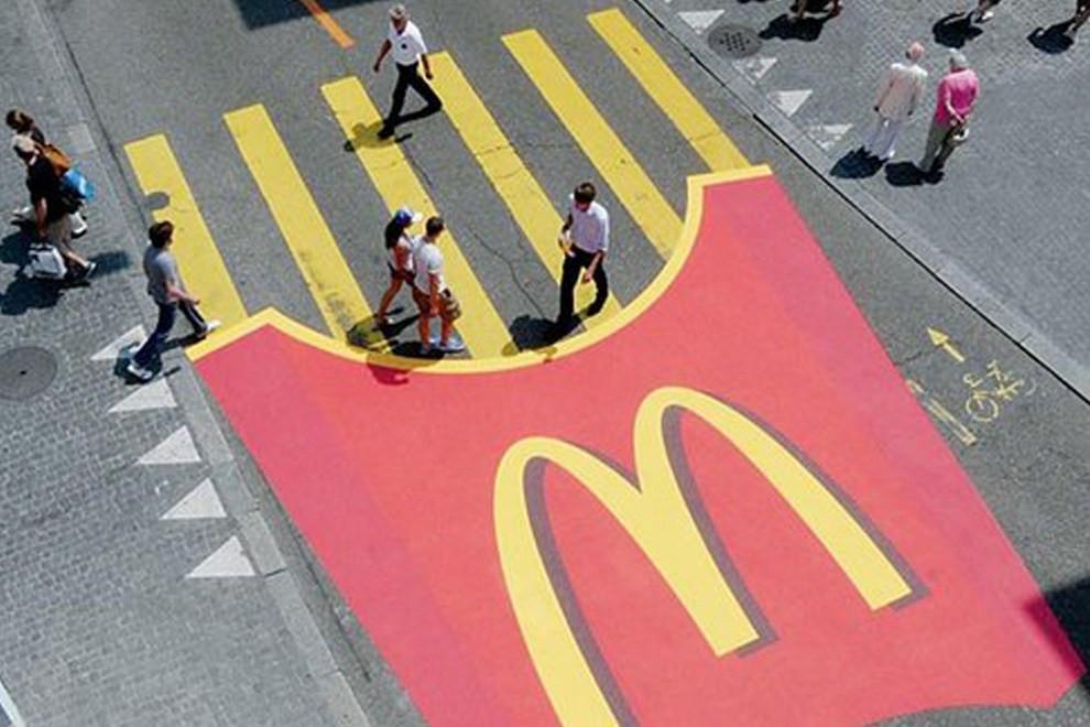 Best guerilla marketing campaign, street art marketing, creative marketing designs