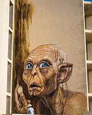 Wild Drawing WD Stree art beautifl mural artwork smeagol lord of the rings