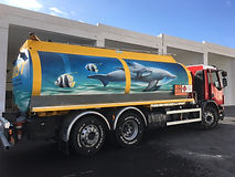 Beautiful 3D artwork on truck by Add More Colors and Grafodeco