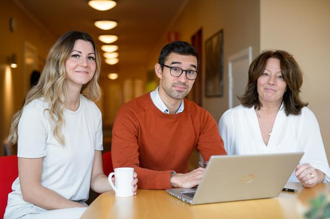 Adrienne, Sebastien & Birgitta