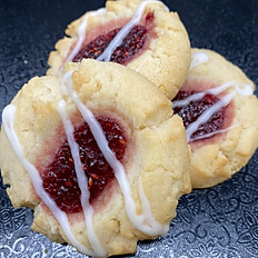 Raspberry Almond Thumbprint 3 pk