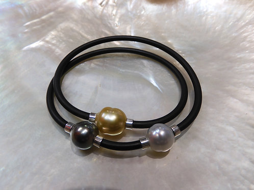 Sterling Silver Tahitian, Gold & Classic Pearl Looped NEO