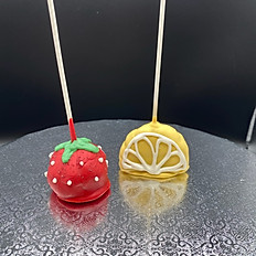 Strawberry and Lemon Cake Pop