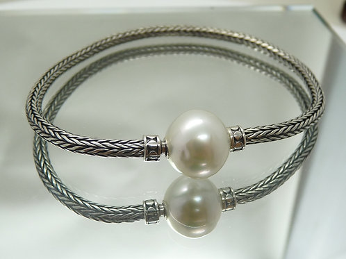 Sterling Silver & Cultured Pearl Bracelet