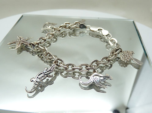 Sterling Silver 'Broome Time' Charm Bracelet