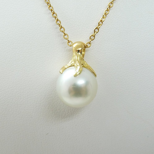 18ct Cultured Pearl 'Tree' Design Pendant