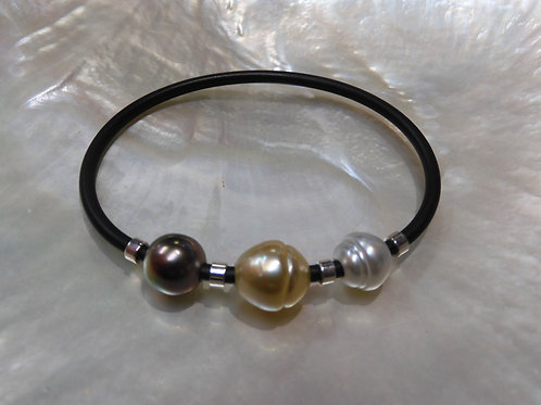 Sterling Silver Tahitian, Gold & Classic Pearl NEO
