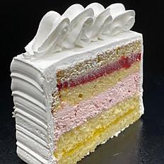 Strawberry Lemonade Cake Slice
