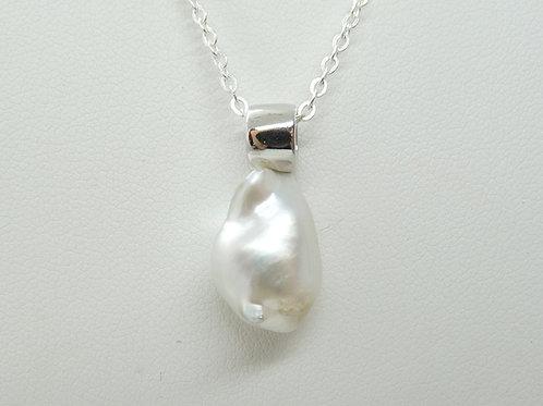 Sterling Silver & Keshi Pearl Pendant