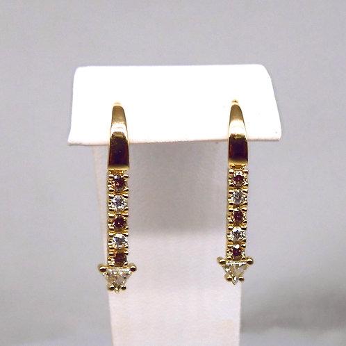 Custom 18ct Gold & Diamond Earrings