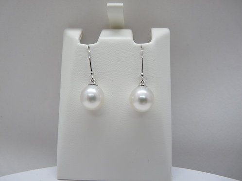 9ct White Gold Delicate Drop Earrings
