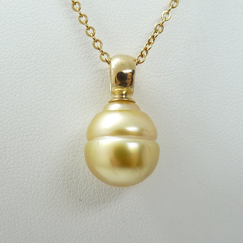 9ct Gold Cultured Pearl Pendant